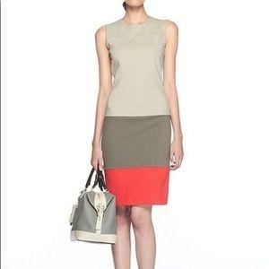 Diane von Furstenberg color blk sheath knit dress
